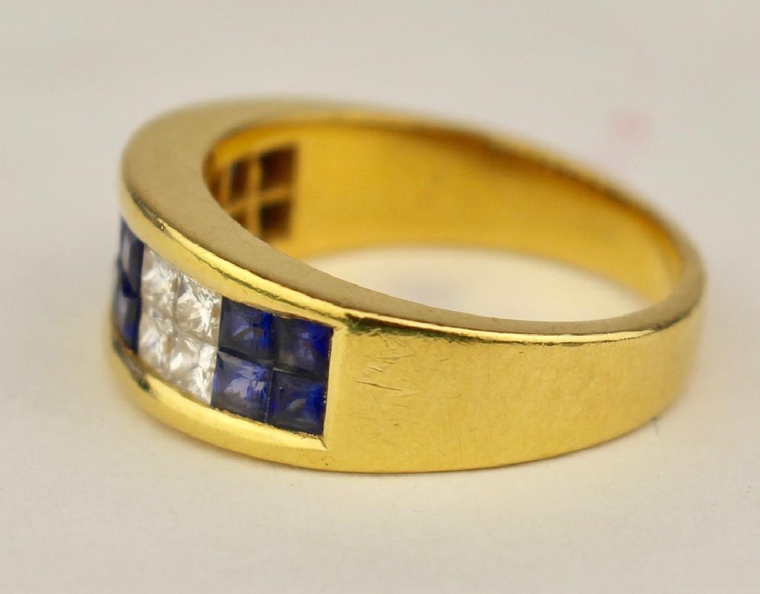 18K Sapphire and Diamond Ring - 2