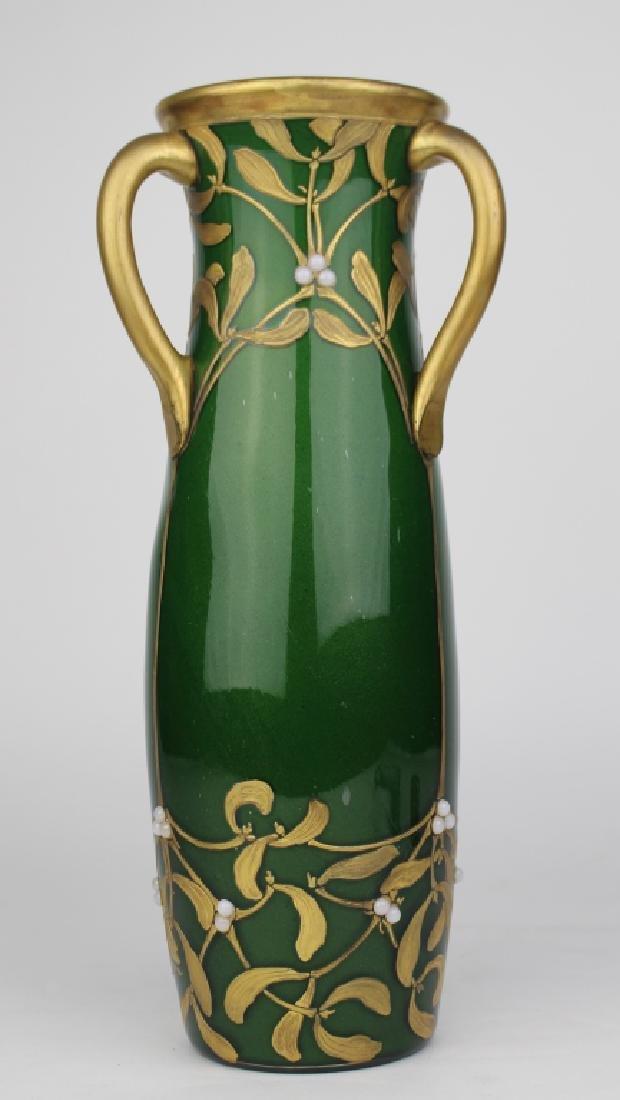 LeGras Art Nouveau Aubergine Vase
