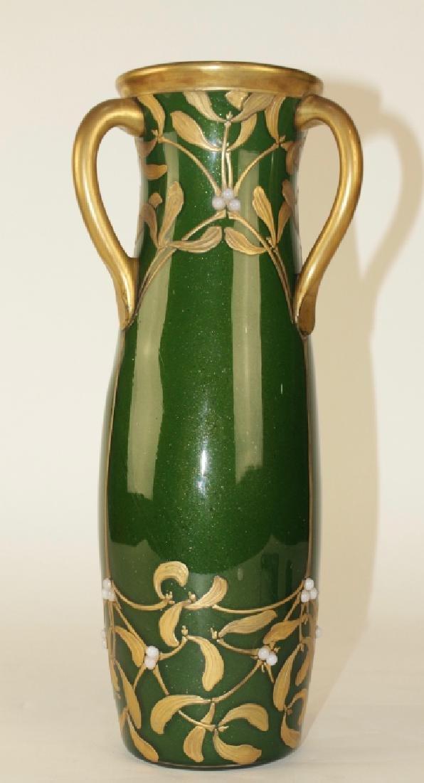 LeGras Art Nouveau Aubergine Vase - 2