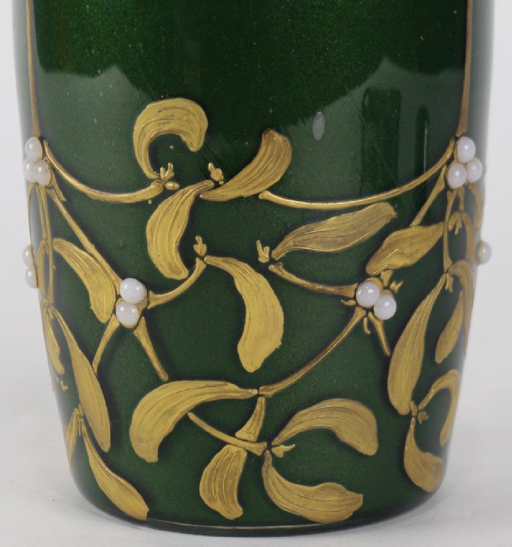 LeGras Art Nouveau Aubergine Vase - 3
