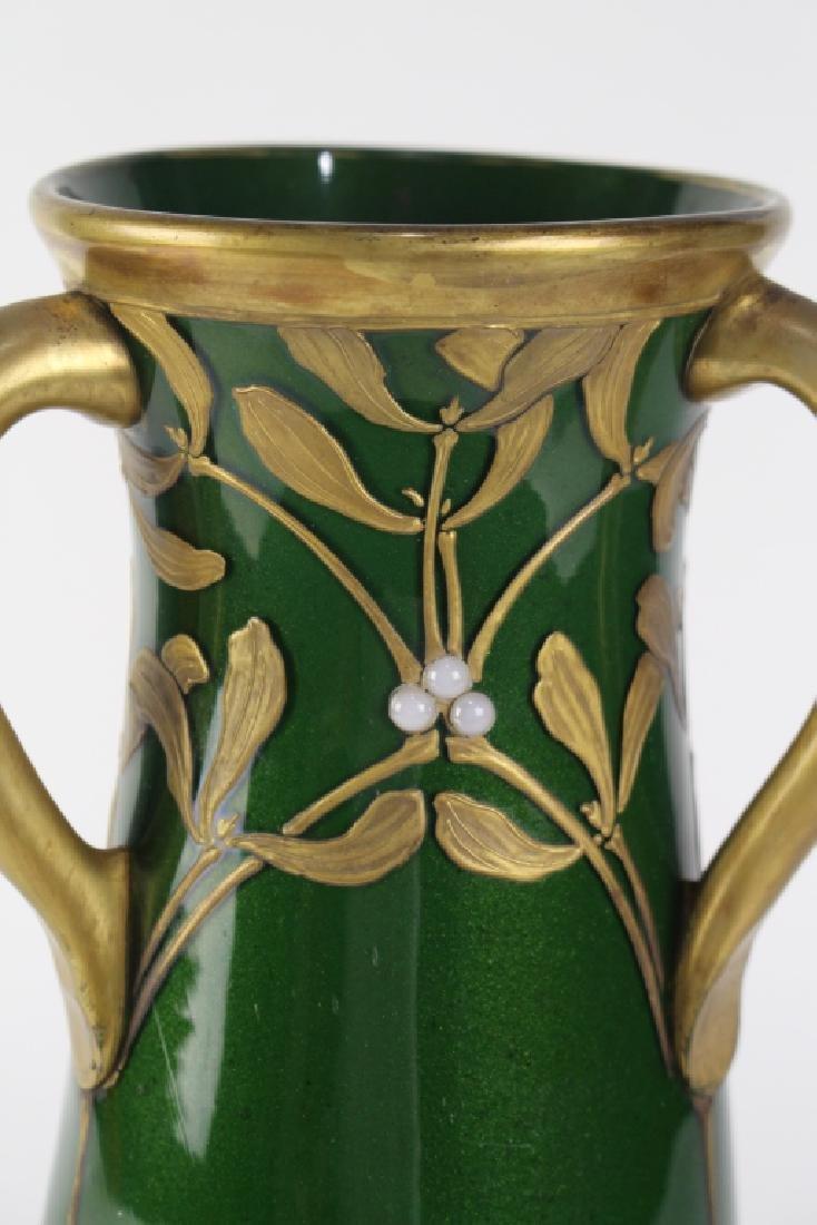 LeGras Art Nouveau Aubergine Vase - 4