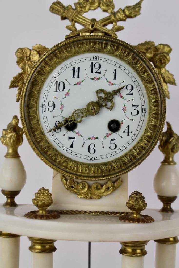 French White Marble Clock - 2
