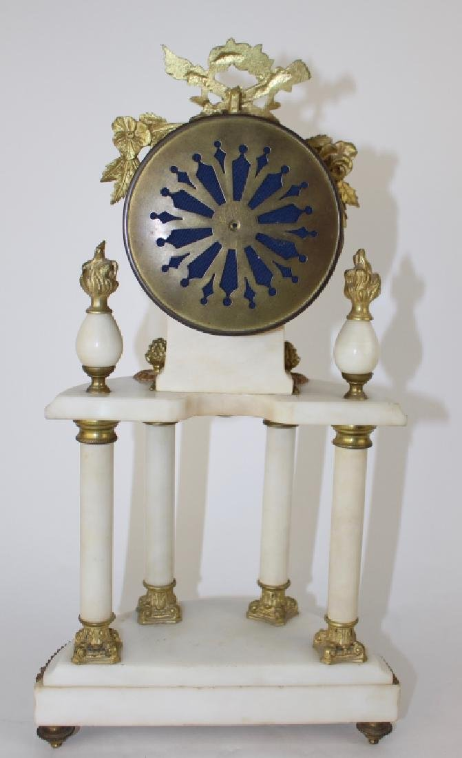 French White Marble Clock - 5