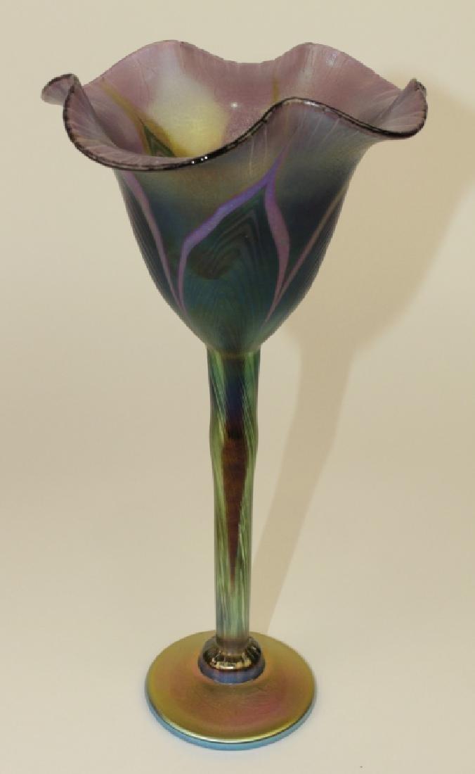 Three Lundberg Studios Art Glass Vases - 5