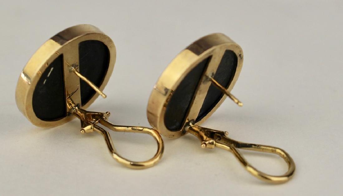 Pair Micro-Mosaic Inlay Earrings - 2