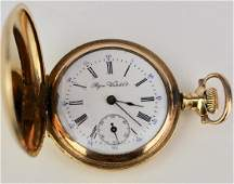 Lady's Gold Hunt Case Pocket Watch