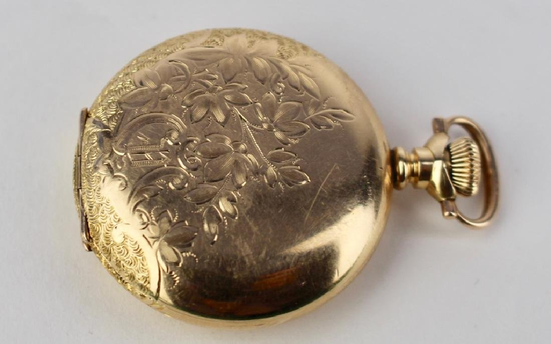Lady's Gold Hunt Case Pocket Watch - 2