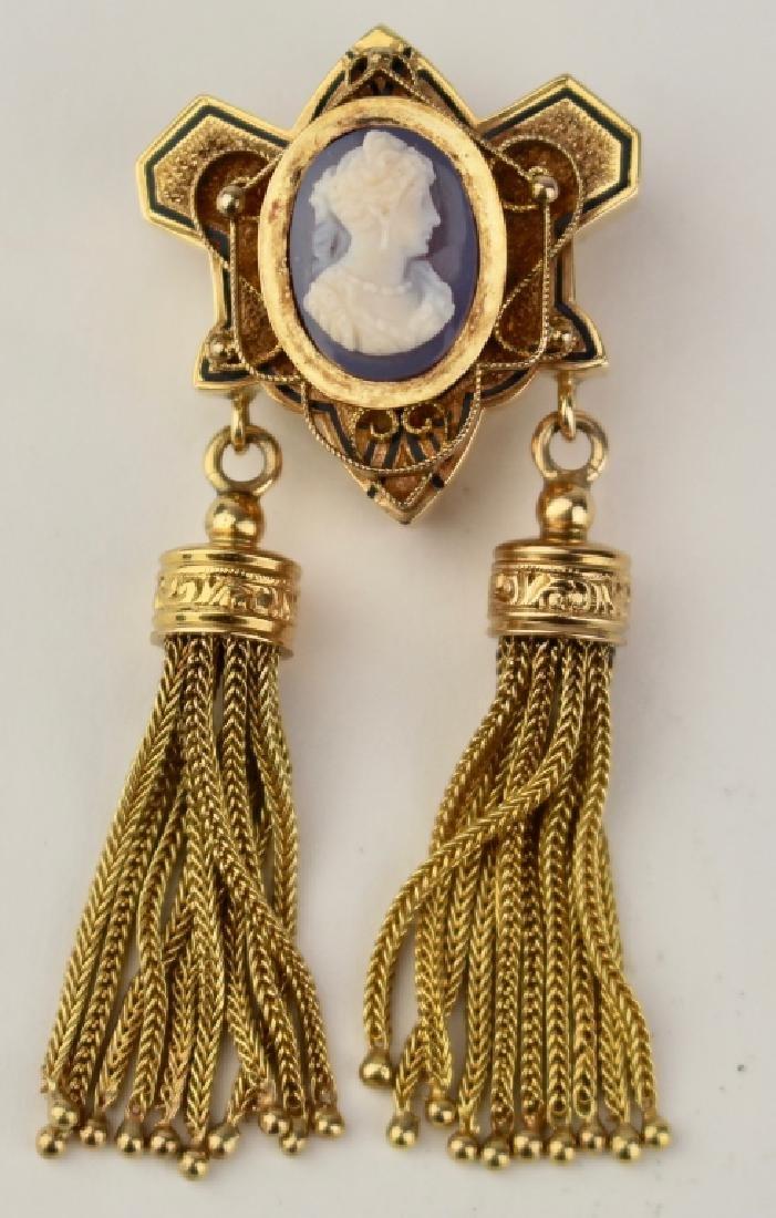 Victorian14K Gold Brooch Pendant
