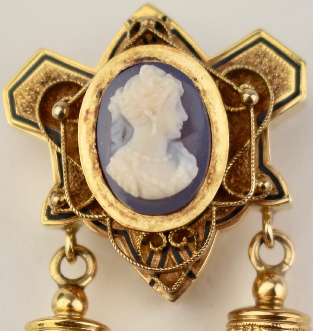 Victorian14K Gold Brooch Pendant - 2