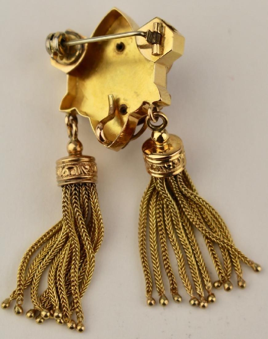 Victorian14K Gold Brooch Pendant - 3