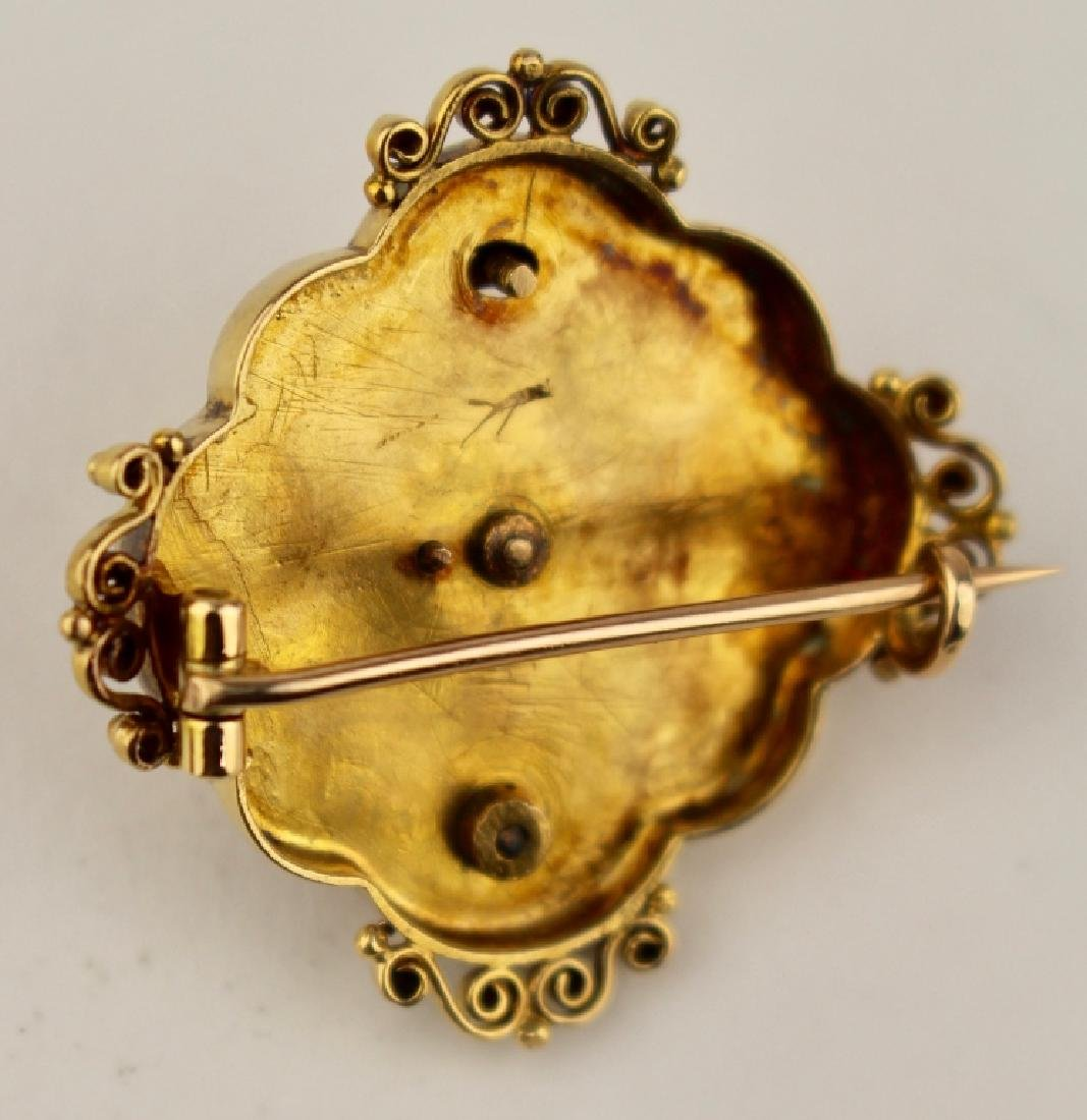 Victorian 18K Brooch with Diamond - 3