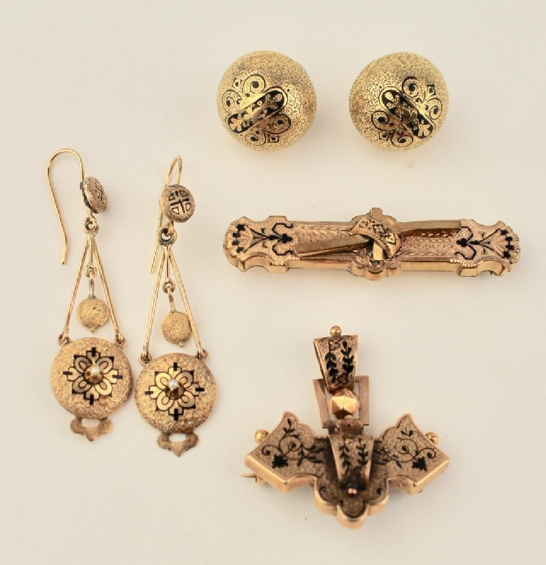 Group 4 Victorian Gold Jewelry