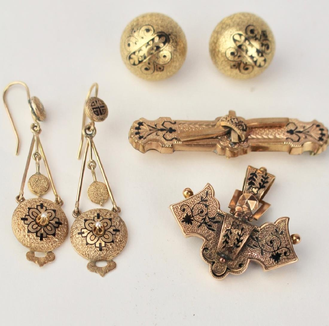 Group 4 Victorian Gold Jewelry - 2