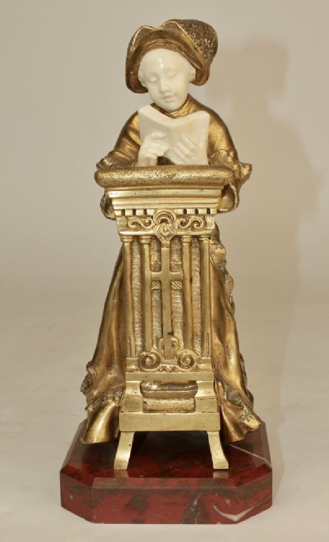 Theophile Somme, Gilt Bronze Girl