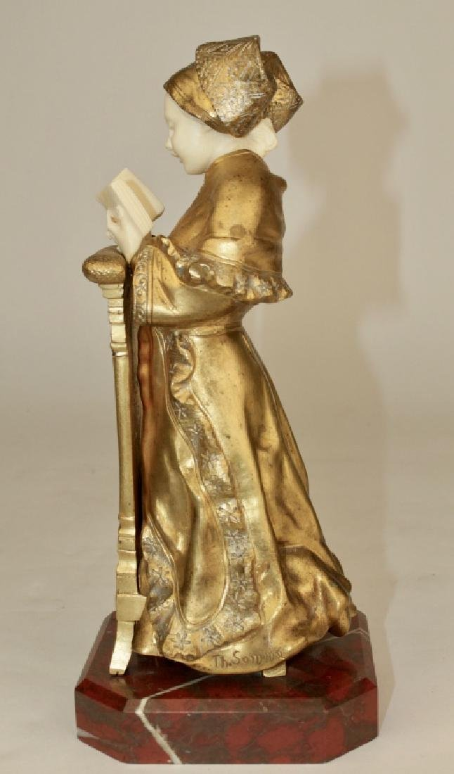 Theophile Somme, Gilt Bronze Girl - 2