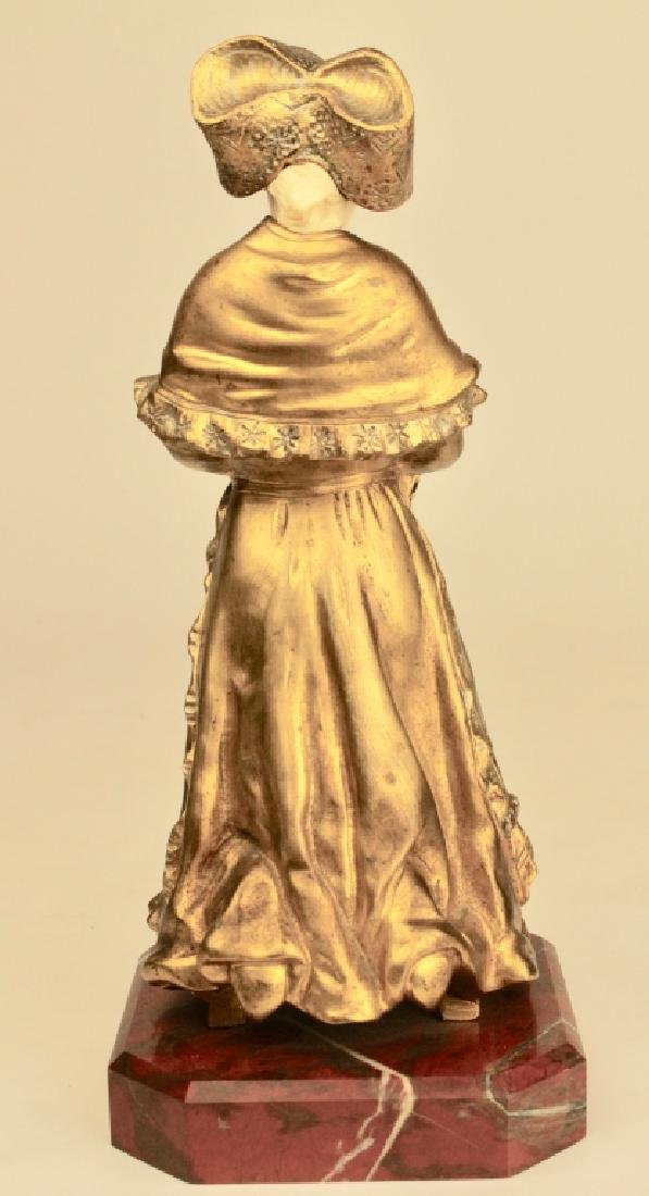 Theophile Somme, Gilt Bronze Girl - 3