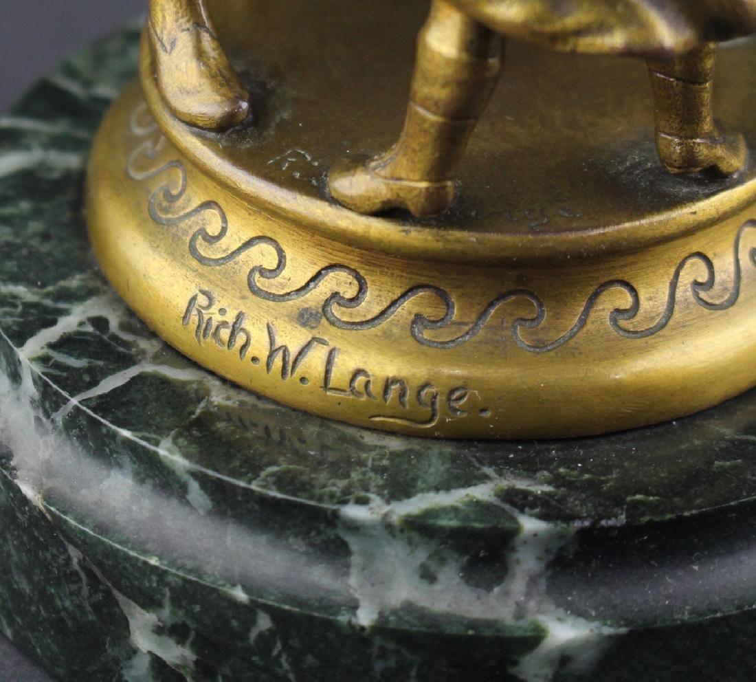 Richard W. Lange, Gilded Bronze Sculpture - 3