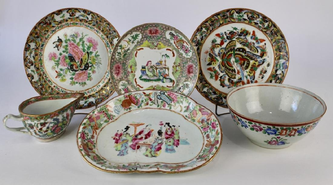 Group Chinese Export Porcelains