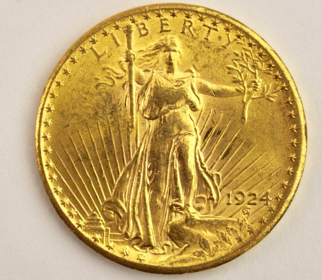U.S. Twenty Dollar Gold Coin, 1924