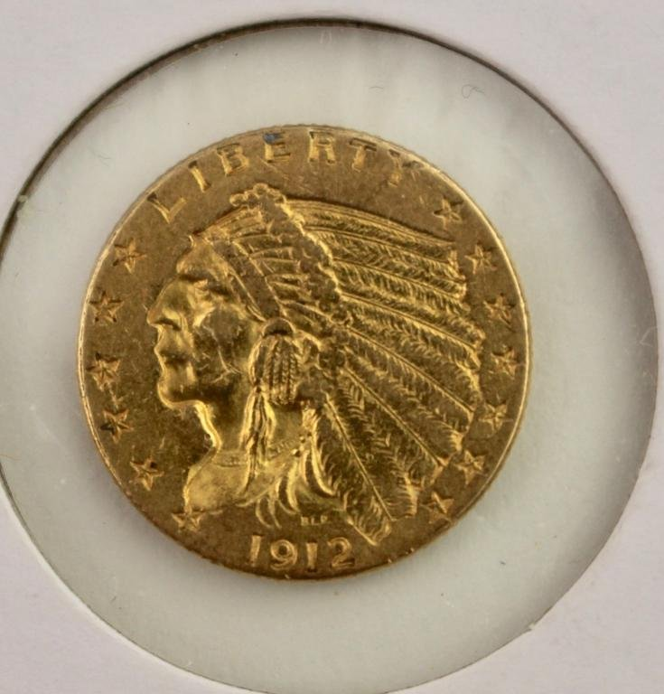 U.S. Two and Half Dollar Gold Coin, 1912