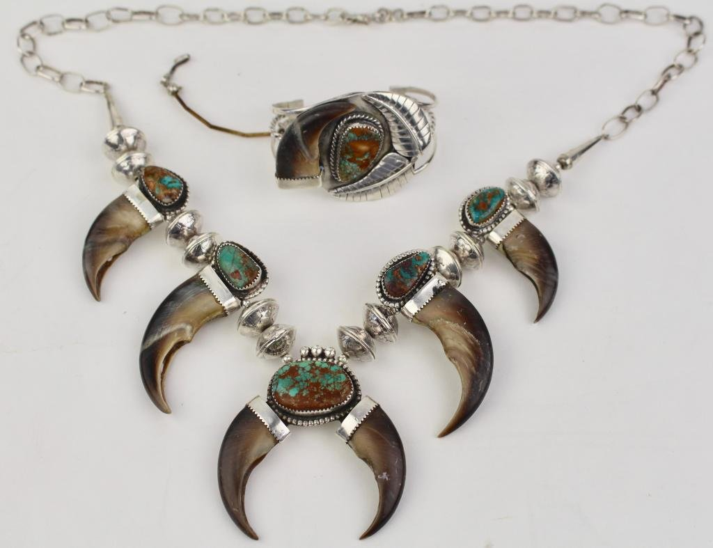 Navaho Sterling Turquoise Set