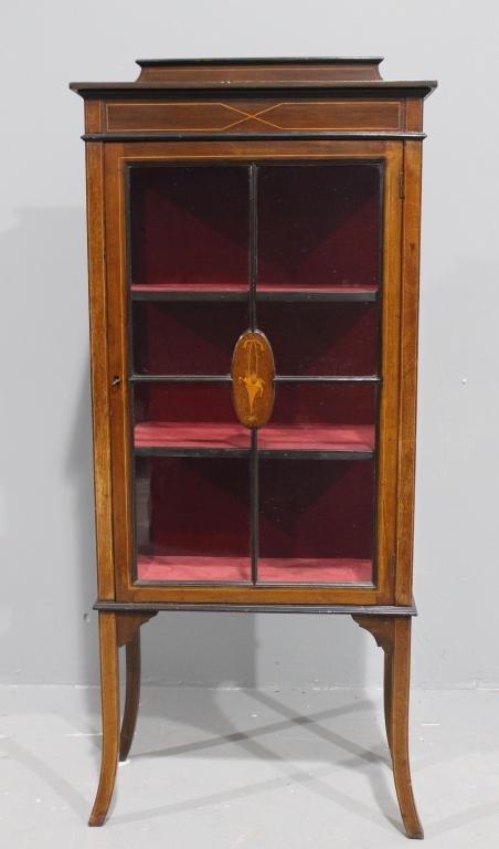 Petite Mahogany Curio Cabinet
