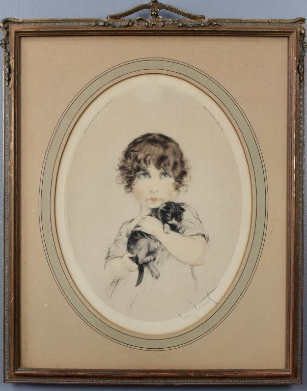 Louis Icart, Minouche, Dry Point Etching