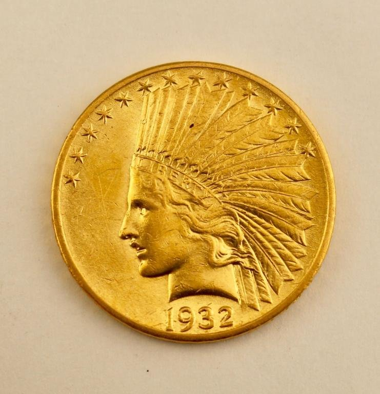 US $10 Indian Head Gold Coin 1932