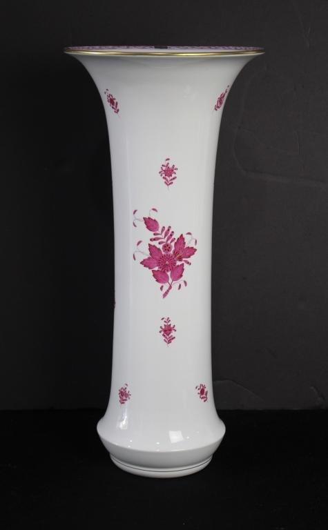 Tall Herend Porcelain Vase
