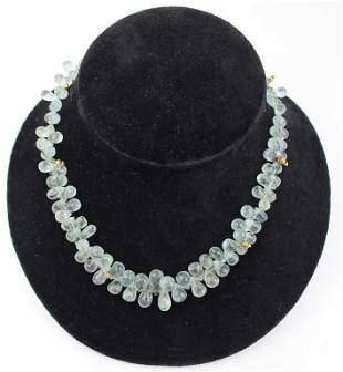 Stunning Aquamarine Quartz Necklace