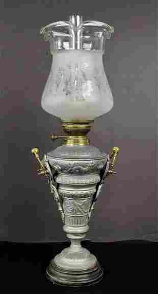 Antique German Oil Lamp c. 1900