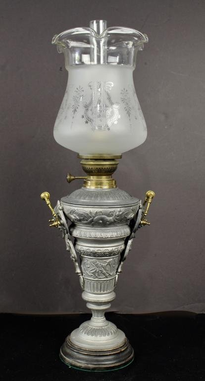 Antique German Oil Lamp c. 1900