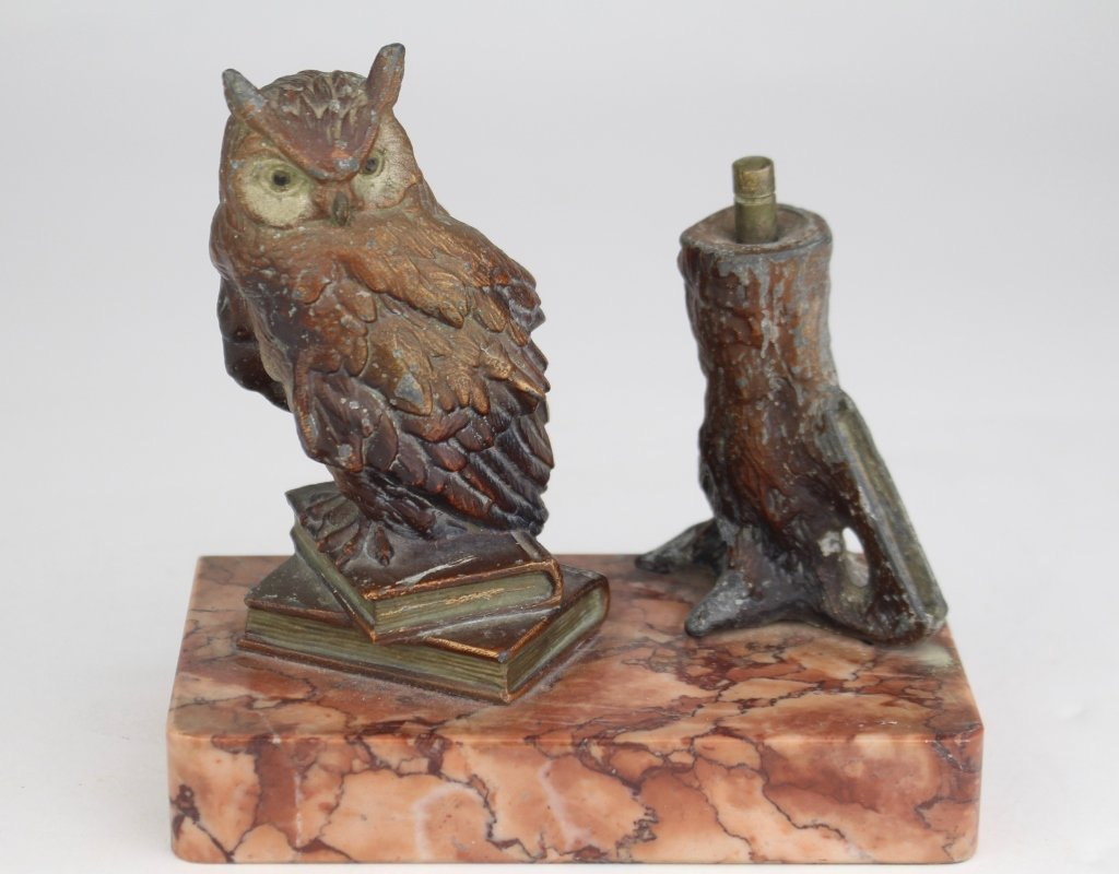 Owl Cigar Lighter, 1880s