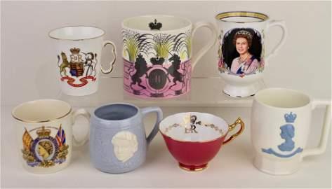 Seven British Royal Mugs