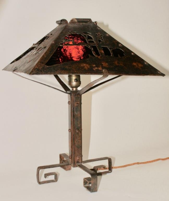 Arts & Crafts Period Table Lamp