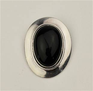 Sterling Taxco PinPendant with Onyx