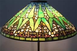 Tiffany Studios Floor Lamp with Arrowroot Shade