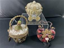 3 Mary Frances Purses, Champagne, Cinderella, Heart