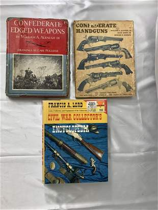 3 Civil War Books- Weapons