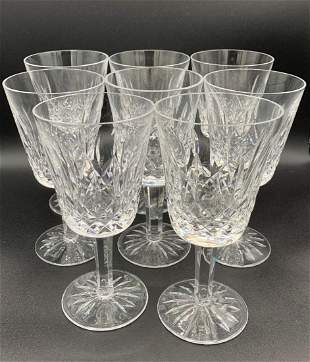 Set of 8 Lismore Waterford Wine Glasses