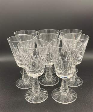"""8 Waterford Lismore Wine Glasses 6"""" tall"""
