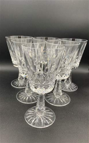 6 Waterford Lismore Water Glasses