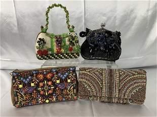 4 Mary Frances Novelty Purses - Handbags
