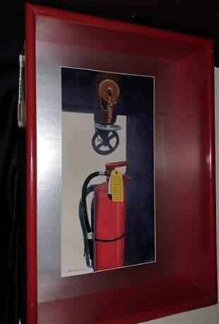 """Steven Jordan Watercolor  """"In case of Fire Do Not Break"""