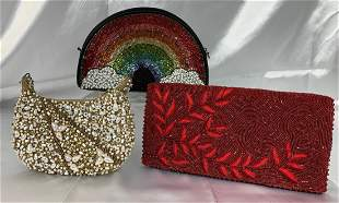 3 Mary Frances Beaded Purses - Handbags