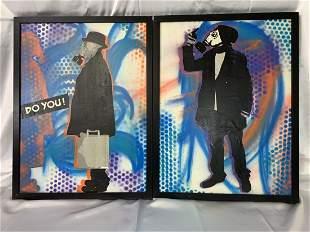"""2 Mixed Media Art Christopher Rodriquez """"Tobar"""""""