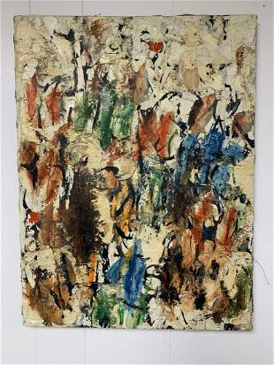 1960's French Abstract Oil Painting-Truchon