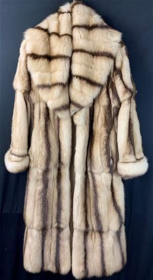 Fendi Natural Russian Golden Sable Full Length Fur Coat