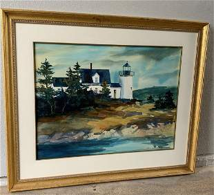 Claire K. Farrell Watercolor- Lighthouse