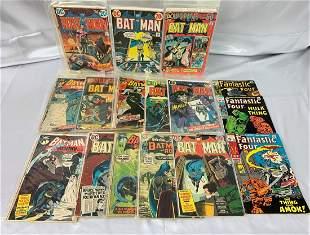 16 Vintage Comic Book Lot-Batman, Fantastic Four